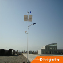 15m Solar LED Street Lamp with 120W LED Lamp and Battery on Top
